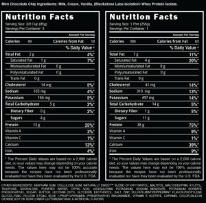 Blackstone Labs Iso-Cream Ingredients