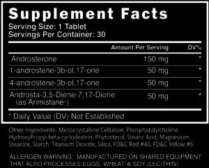 Blackstone Labs Metha-Quad Extreme Ingredients