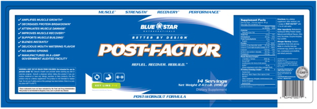 Blue Star Nutraceuticals Post Factor Label