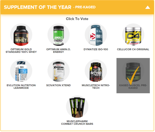 Bodybuilding 2017 Supplement Award of the Year