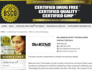BSCG Millennium Sport Technology