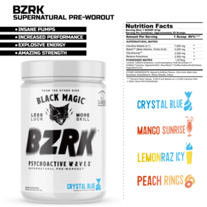 BZRK Pre Workout Features