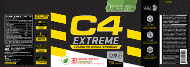 Cellucor C4 Extreme Natural Zero Label
