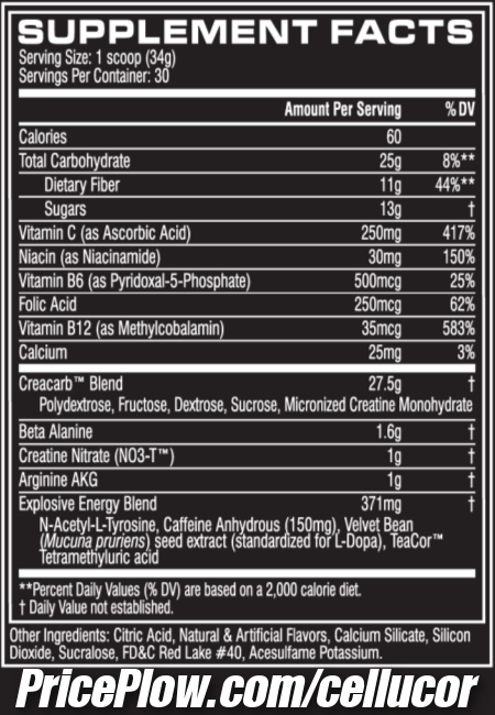 Cellucor C4 Mass Ingredients