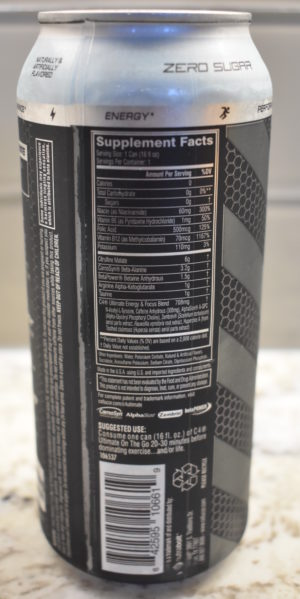 Cellucor C4 Ultimate on the Go Label