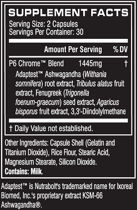Cellucor P6 Chrome Ingredients