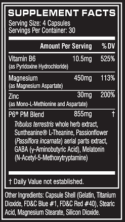 Cellucor P6 PM Ingredients