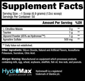 Controlled Labs White Pipes Ingredients