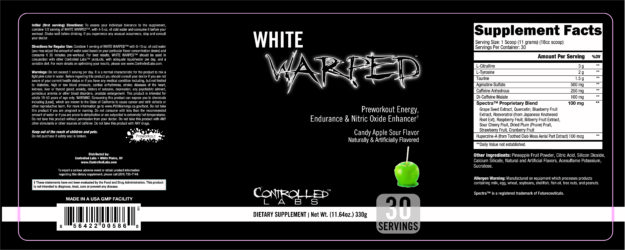Controlled Labs White Warped Label