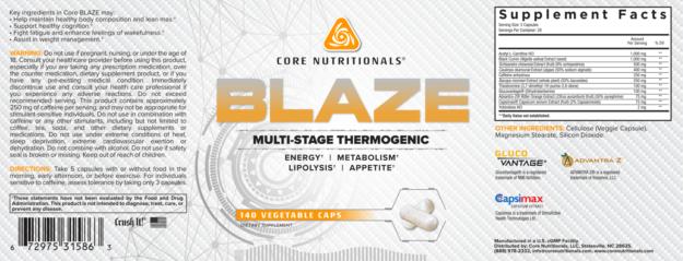 Core Blaze Label