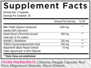 Core LIVER Ingredients
