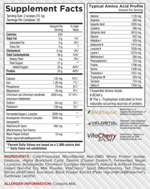 Core Nutritionals Post Cinnamon French Toast Ingredients