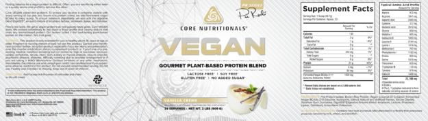 CORE Vegan Vanilla Créme Label