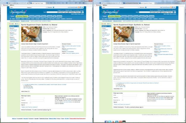 Daniel Armstrong DMAA Geranium Press Release Comparison in ChemistryViews