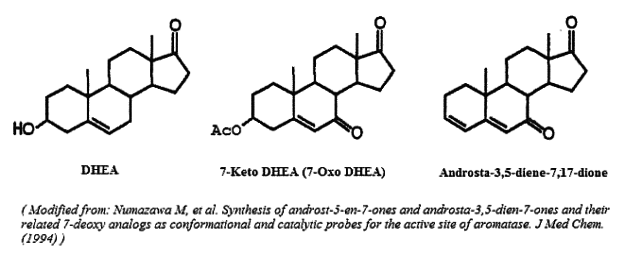DHEA, 7-Keto DHEA, and Arimistane