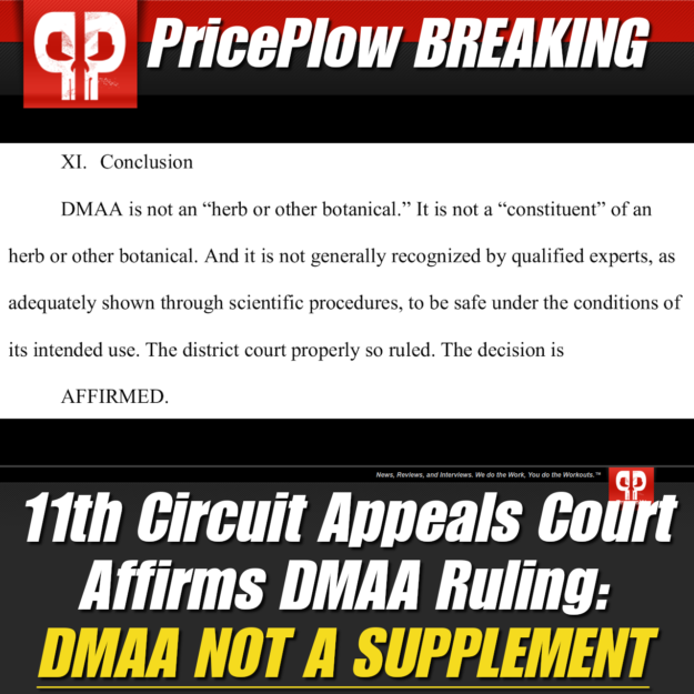 DMAA Banned