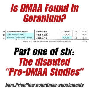 DMAA in Geranium - The Disputed Studies