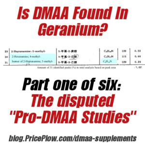DMAA in Geranium - The Disputed Studies