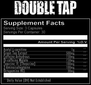 RedCon1 Double Tap Capsule Ingredients