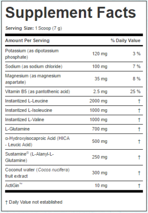 Elemetx EliteAmine Ingredients