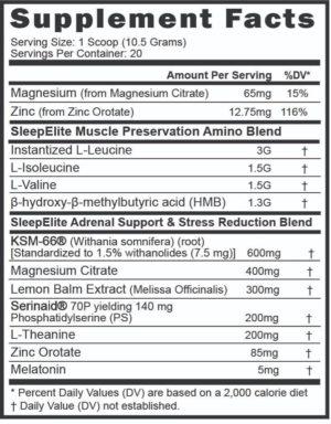EndurElite SleepElite Ingredients