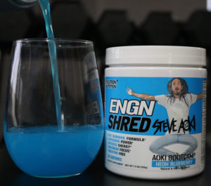 Steve Aoki's ENGN Shred Pre Workout Drops a Neon Blueberry Pop!