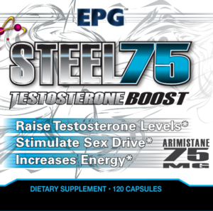 Steel 75 is a mighty testosterone booster that features a massive 75mg Arimistane