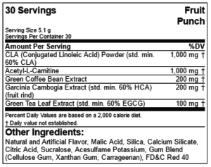 EVL LeanMode Ingredients