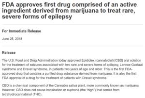 FDA CBD Approval