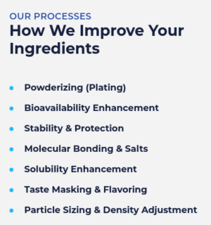 Formulate Supplement Ingredients