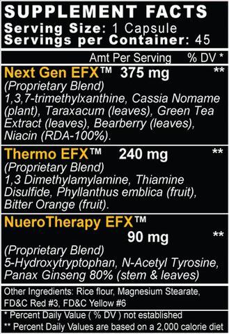 Formutech Lean-EFX Ingredients