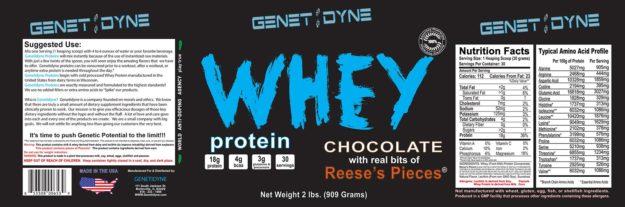 Genetidyne Whey Protein Label
