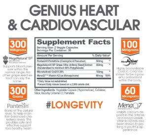 Genius Heart Cardiovascular Ingredients