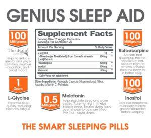 Genius Sleep Aid Ingredients