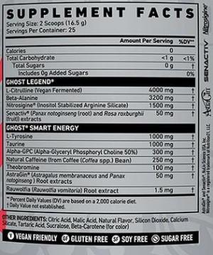 Ghost Legend V2 Ingredients Leaked