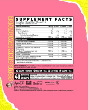 Ghost Pump Maxx Chewning Ingredients