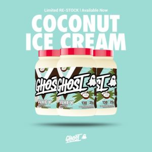 Ghost Whey Coconut Ice Cream
