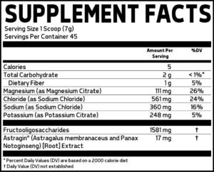 Glaxon Astrolyte Ingredients