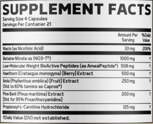 Glaxon Plasm Caps Ingredients