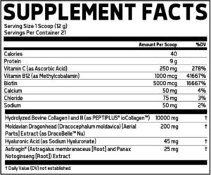 Glaxon Wonder Collagen Ingredients