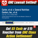 GNC Lawsuit Settlement