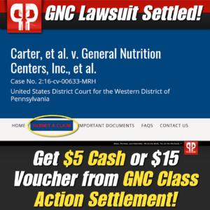 GNC Lawsuit Settlement
