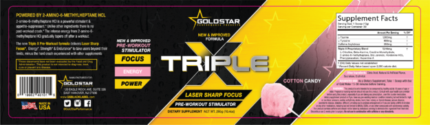 Gold Star Triple X Label