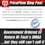 Hi-Tech DMAA Confiscation Overturned