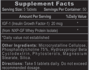Hi-Tech Pro IGF-1 Ingredients