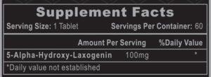 Hi-Tech Laxogenin 100 Ingredients