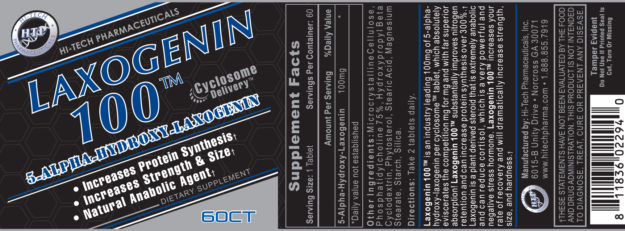 Hi-Tech Laxogenin 100 Label