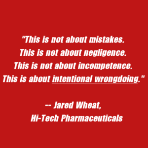 Hi-Tech Pharmaceuticals DMAA Press Release Jared Wheat