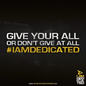 #IAmDedicated
