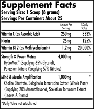 iForce Hemavo2 Max Ingredients